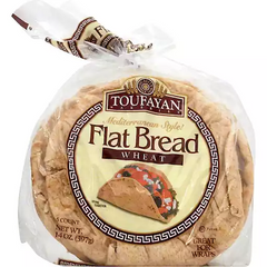 Toufayan Whole Wheat Flat Bread 397 Gr ( 14 Oz )