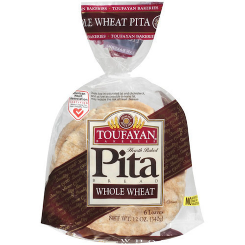 Toufayan Whole Wheat Pita 6 Loaves 340 Gr ( 12 Oz )