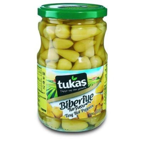 Tukas Biberiye Tiny Hot Pepper Pickles 680 Gr ( 23.9 Oz )
