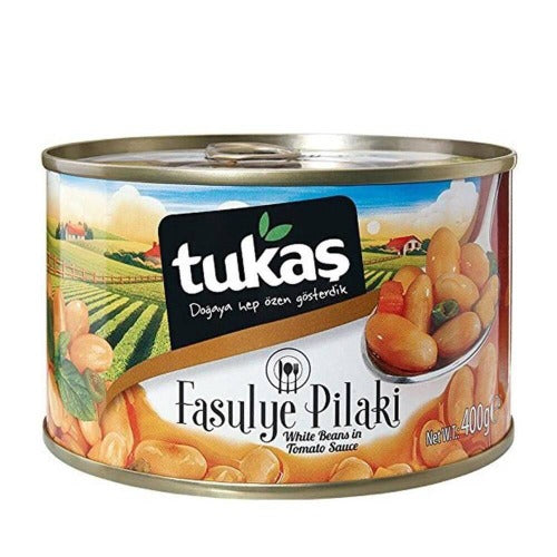 Tukas Cooked White Beans In Can 400Gr ( 14.1 Oz )