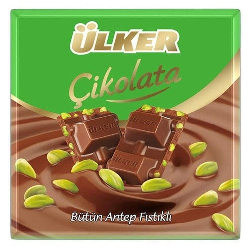Ulker Chocolate Bar With Pistachio 70 Gr ( 2.46 Oz )