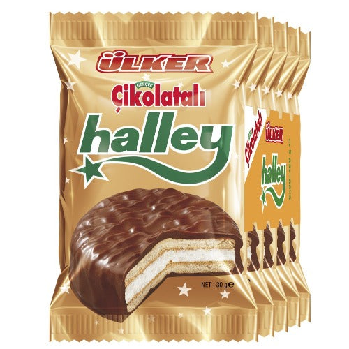 Ulker Halley Chocolate Marshmallow 5 Pack 150 Gr ( 5.3 Oz )