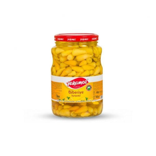 Yakamoz Biberiye Tiny Hot Pepper Pickles 1.7 Kg ( 3.75 Lbs )