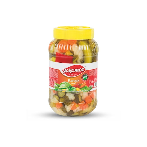 Yakamoz Mixed Vegetable Pickles 3 Kg ( 6.6 Lbs )