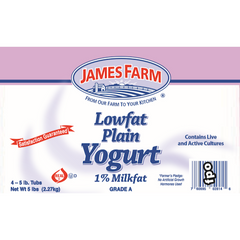 James Farm Plain Low Fat Yogurt 2.27 Kg ( 5 Lbs )