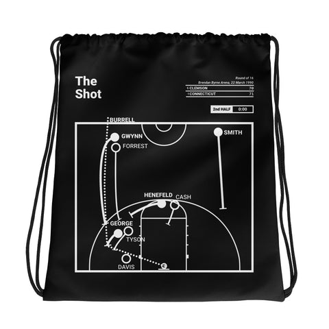 Greatest UCONN Plays Drawstring Bag: The Shot (1990)