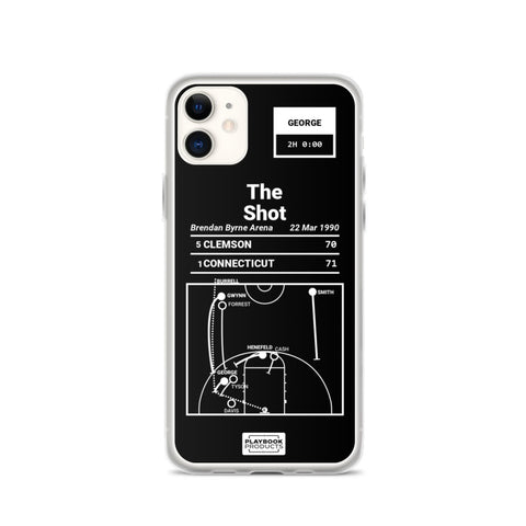 Greatest UCONN Plays iPhone  Case: The Shot (1990)