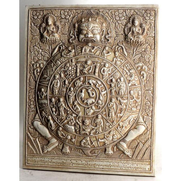 Tibetan Wheel of Life plaque