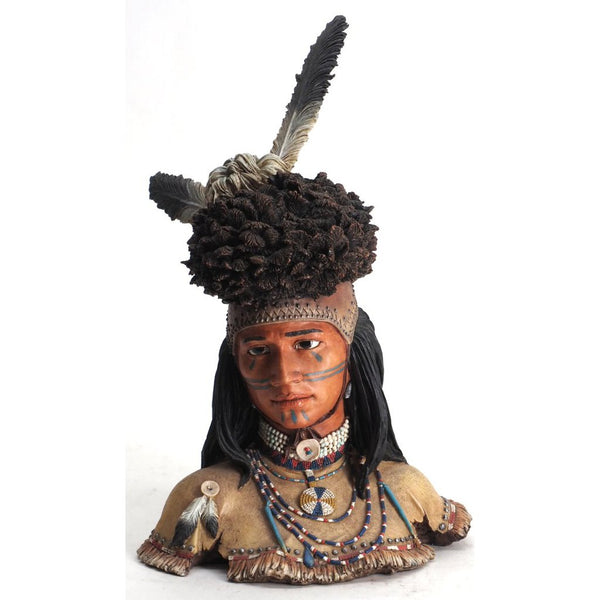 Apache warrior bust