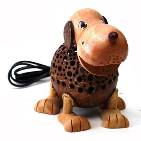 Lamp-coconut shell-puppy