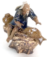 Bonsai Fisherman with Fish