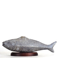 Fish, grey porcelain