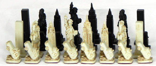 Chess set, New York Commemorative Edition, Mascot Direct