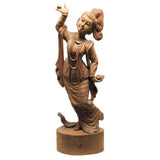 Carving-teak wood Thai dancer-24''