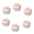 6PCS Mini Handmade Plush Elastic Bell Ball Cat Toy Set