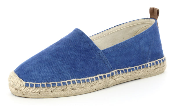 COLORANT ESPADRILLE SLIDES | INDIGO CANVAS