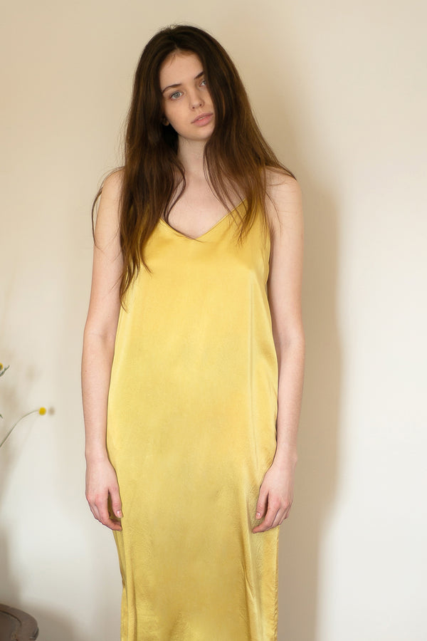 COLORANT SLIP DRESS DRESS | GOLD