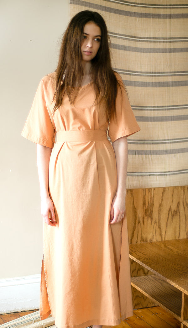 COLORANT STOREY DRESS | GOLDENROD