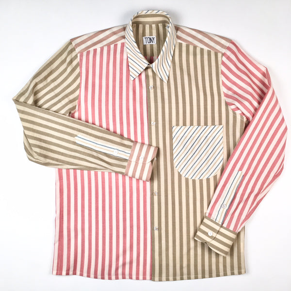 COLORANT X TONY SHIRTMAKER WOVEN COTTON SHIRT | MULT-STRIPE No. 3