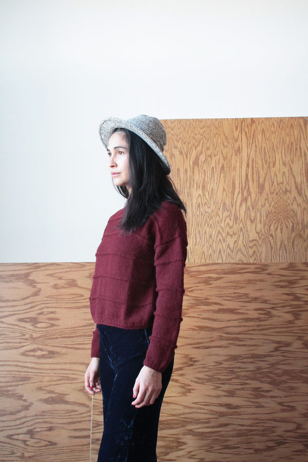 LAKEWOOD SWEATER | COCHINEAL