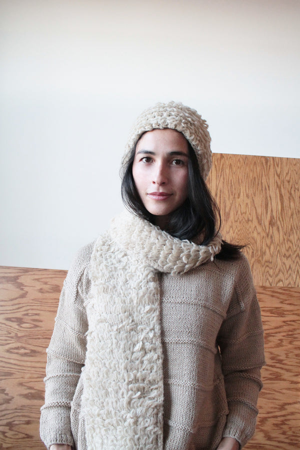ELECTRA KNIT SCARF | PEBBLE