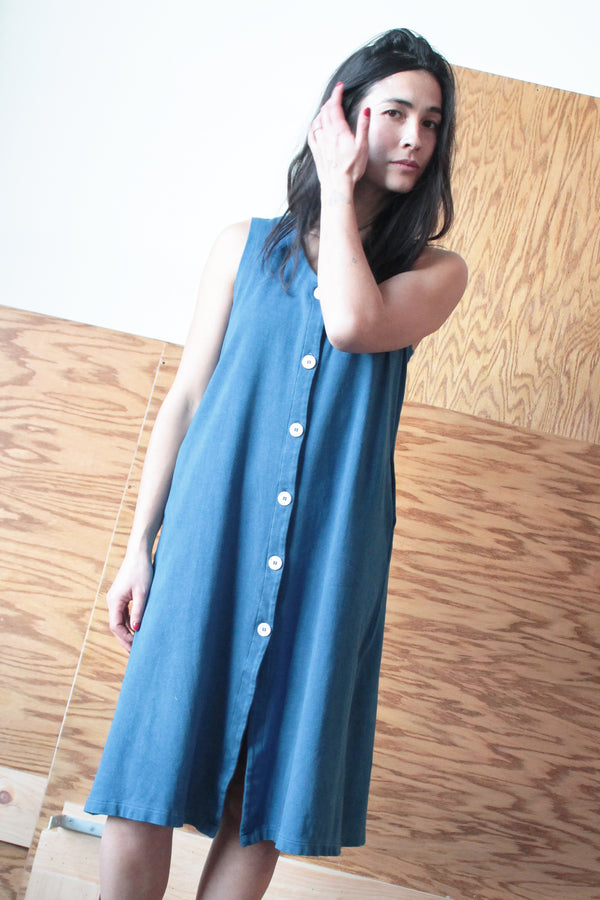 THEO VEST DRESS | INDIGO