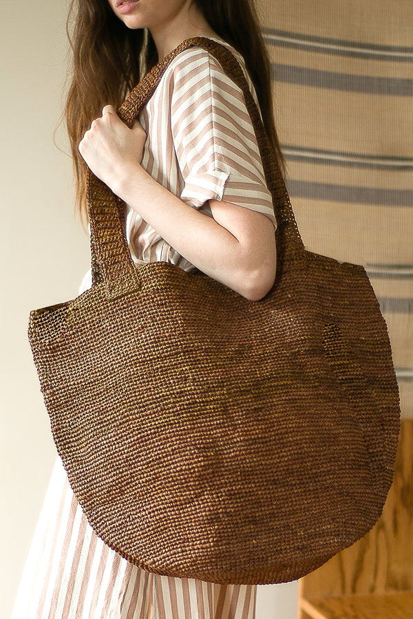 COLORANT RAFFIA TOTE | NATO RED