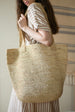 COLORANT RAFFIA TOTE | NATURAL