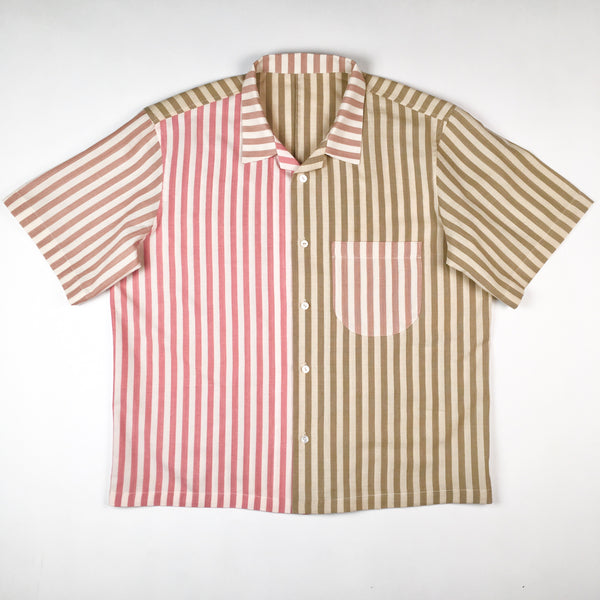COLORANT X TONY SHIRTMAKER WOVEN COTTON SHORT SLEEVE | MULTI-STRIPE No.5