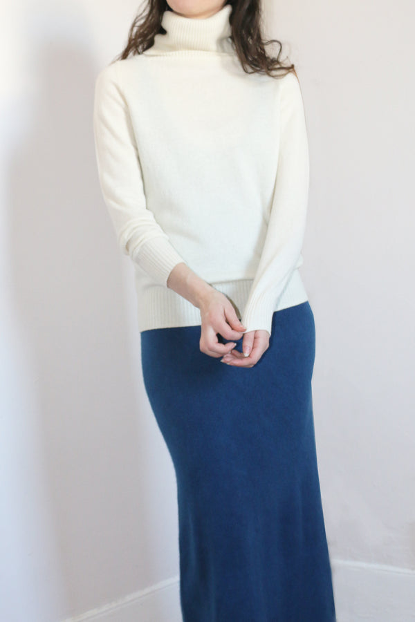 COLORANT CASHMERE TURTLENECK | IVORY