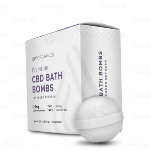 CBD Bath Bombs, 1 pack (4 bombs) 100mg per box/25mg per bath bomb