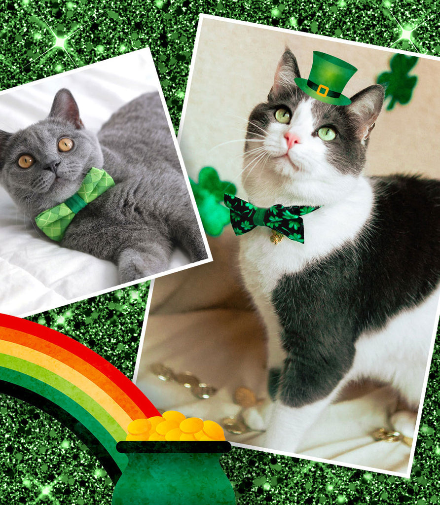 St. Patrick's Day Cat Collars & Bow Ties