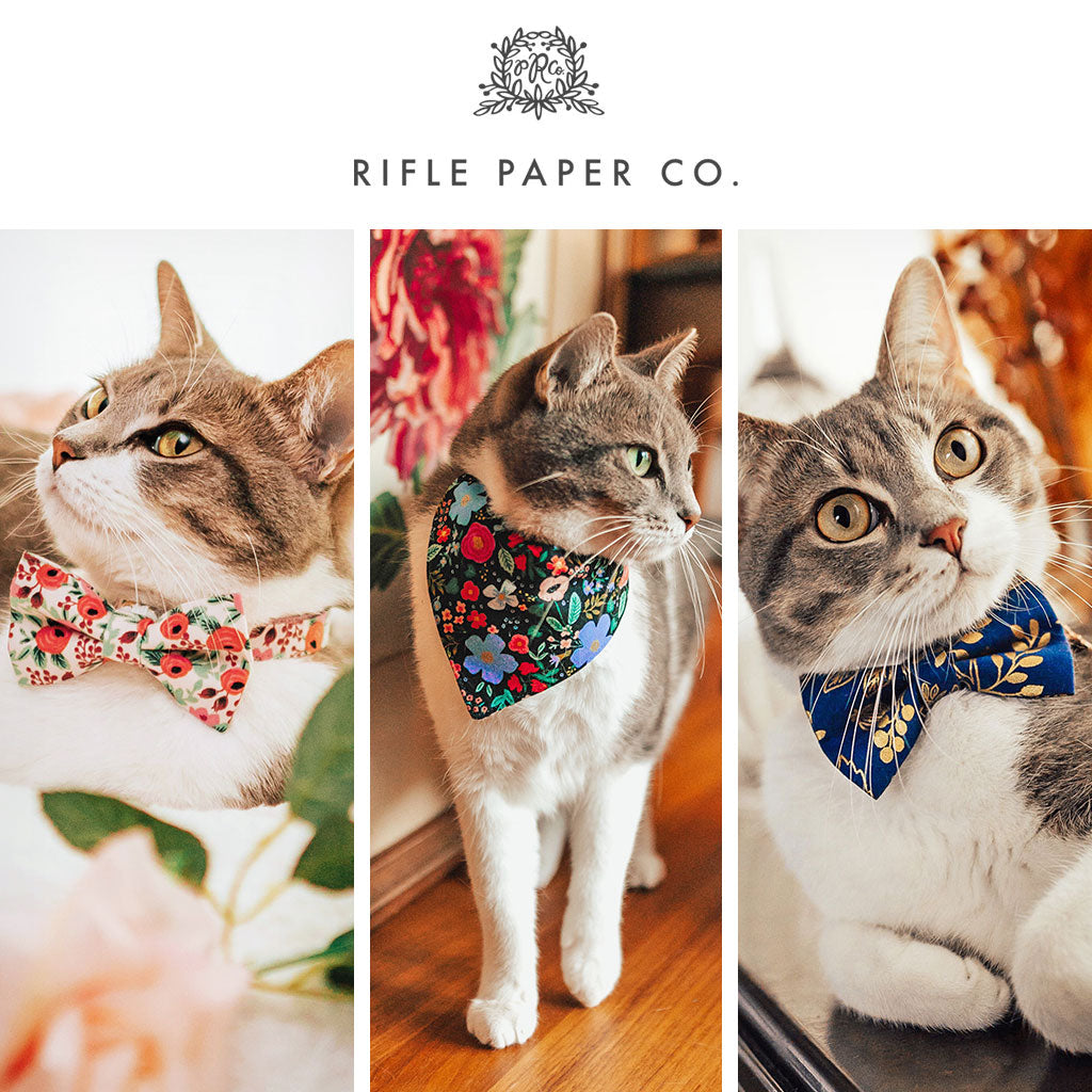 Rifle Paper Co® Cat Collars, Bow Ties, Bandanas & Accessories
