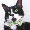"Cat Bow Tie - ""Avocado Baby - Green"" Bowtie / For Cats + Small Dogs / Removable (One Size)"