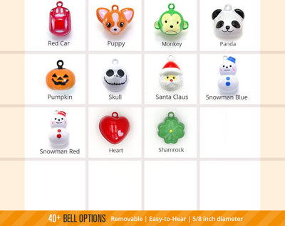 Specialty Pet Collar Jingle Bell (40+ Styles) - Pick One - For Cat Collars & Small Dog Collars (EXTRA LOUD)