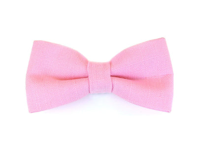 "Bow Tie Cat Collar Set - ""Tea Rose"" - Light Pink Sparkle Collar + Detachable 'Ella' Bow Tie"