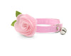 "Cat Collar + Flower Set - ""Color Collection - Pastel Pink"" - Cat Collar w/ ""Baby Pink"" Felt Flower (Detachable) / Cat & Small Dog"