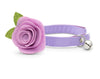 "Cat Collar + Flower Set - ""Color Collection - Lavender"" - Cat Collar w/ ""Lavender"" Felt Flower (Detachable) / Cat, Kitten & Small Dog"