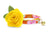 "Cat Collar + Flower Set - ""Lanai"" - Tropical Hawaiian Orange Cat Collar w/ ""Buttercup"" Yellow Felt Flower (Detachable)"