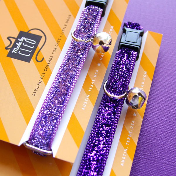 "Cat Collar - ""Pixie"" - Lavender Purple Sparkle"