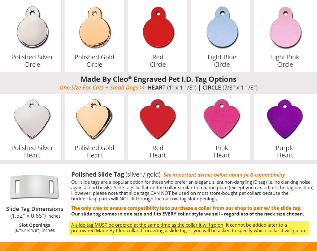 Custom Personalized Pet ID Tag for Dog and Cat Collars BIG HEART