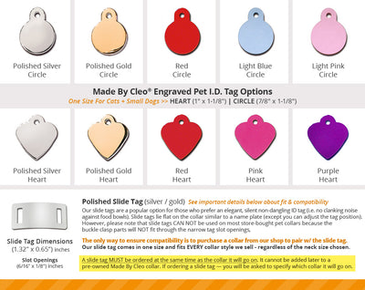 Engraved Pet ID Tag - (12 Styles) - Personalized Tags for Cats, Kittens & Small Dogs