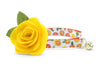 "Cat Collar - ""Marigold"" - Orange & Yellow Floral Cat Collar - Breakaway Buckle or Non-Breakaway / Cat, Kitten + Small Dog Sizes"