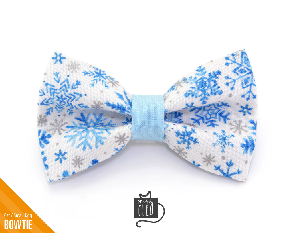 """4 Large 10/"""" Hand Made Blue /& Silver Snowflake Bows Christmas Winter Snow"""