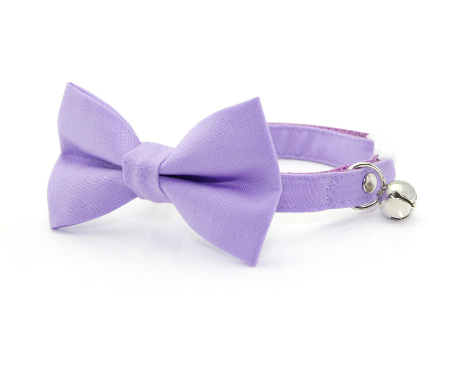 "Cat Bow Tie - ""Color Collection - Lavender"" - Light Purple Cat Collar Bow Tie / Kitten Bow / Dog Bowtie / Wedding / Removable (One Size)"
