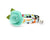"Sushi Cat Collar with Flower Set - ""Sushi Date"" - Cat Collar with Mint Felt Flower - Breakaway/Non-Breakaway/Cat, Kitten & Small Dog Sizes"