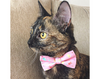 "Easter Cat Bow Tie - ""Bunny Peeps"" - Pastel Bunnies on Pink Bowtie / For Cats + Small Dogs / Removable (One Size)"