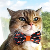 "Thanksgiving Pet Bow Tie - ""Pumpkin Pie"" - Little Slices of Pie on Charcoal Gray Bowtie / For Cats + Small Dogs / Removable (One Size)"