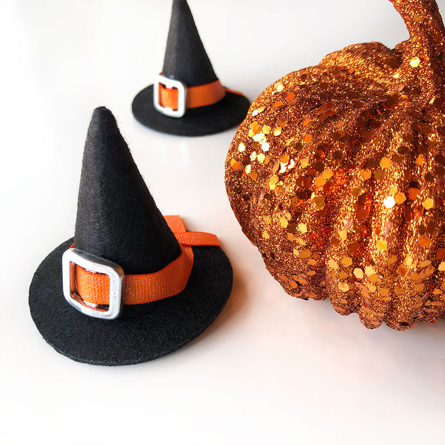 Pet Witch Hat - Halloween Photo Prop | X-Small Mini Size for Cats, Kittens + Small Dogs
