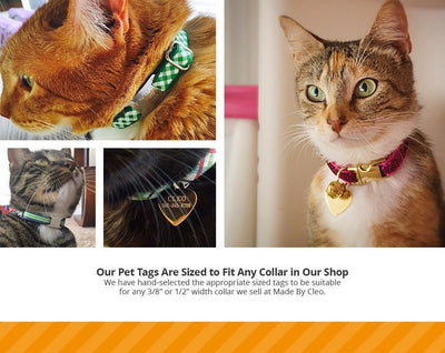 Engraved Pet I.D. Tags - Engraved Pet ID Tag - (11 Styles) - Personalized For Cats & Dogs